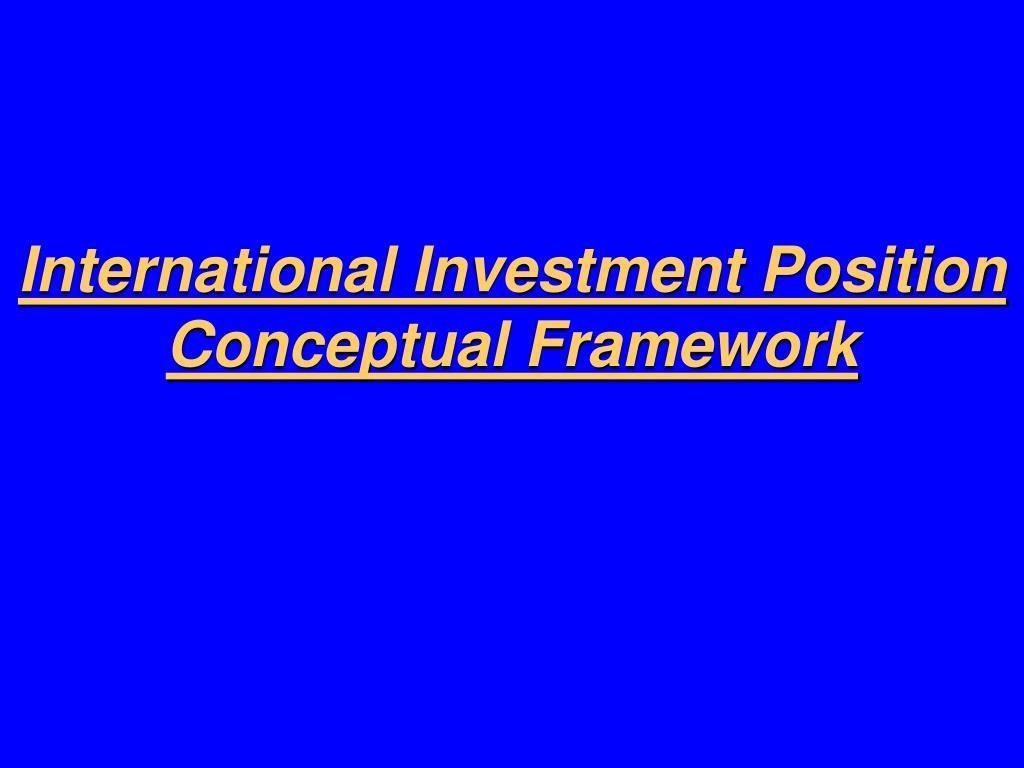 International Investment Position
