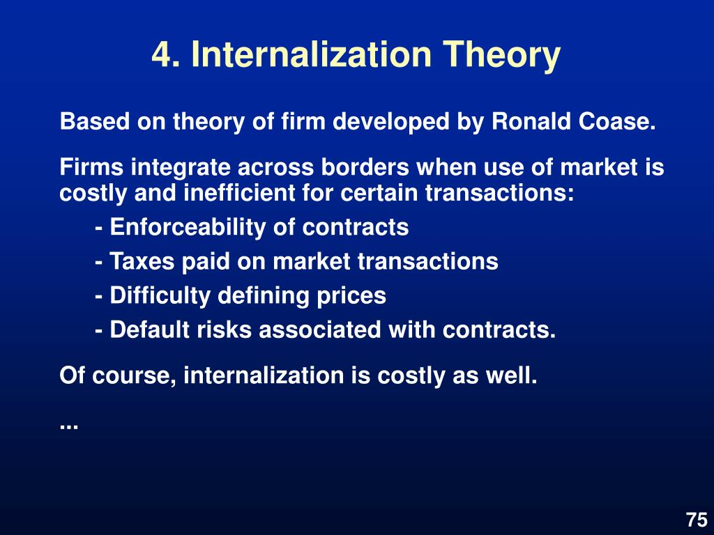 4. Internalization Theory