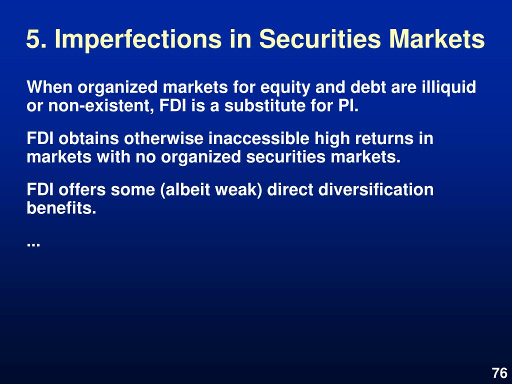 5. Imperfections in Securities Markets