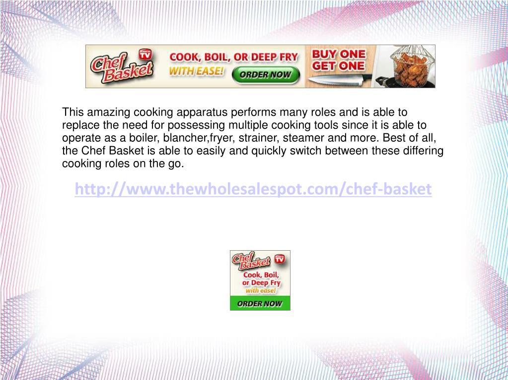 This amazing cooking apparatus performs many roles and is able to replace the need for possessing multiple cooking tools since it is able to operate as a boiler, blancher,fryer, strainer, steamer and more. Best of all, the Chef Basket is able to easily and quickly switch between these differing cooking roles on the go.