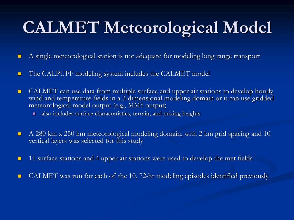 CALMET Meteorological Model