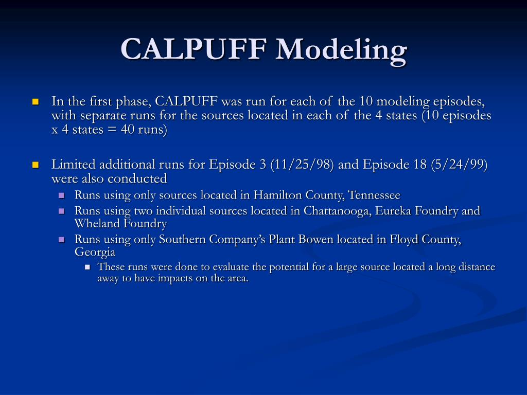 CALPUFF Modeling