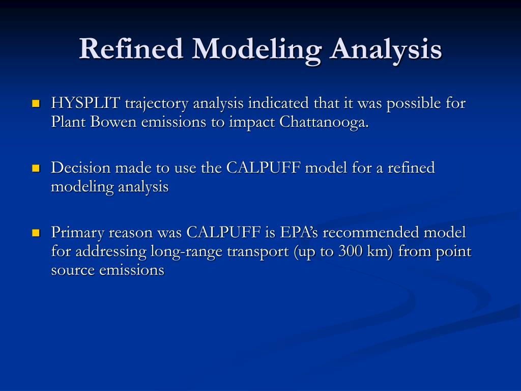 Refined Modeling Analysis