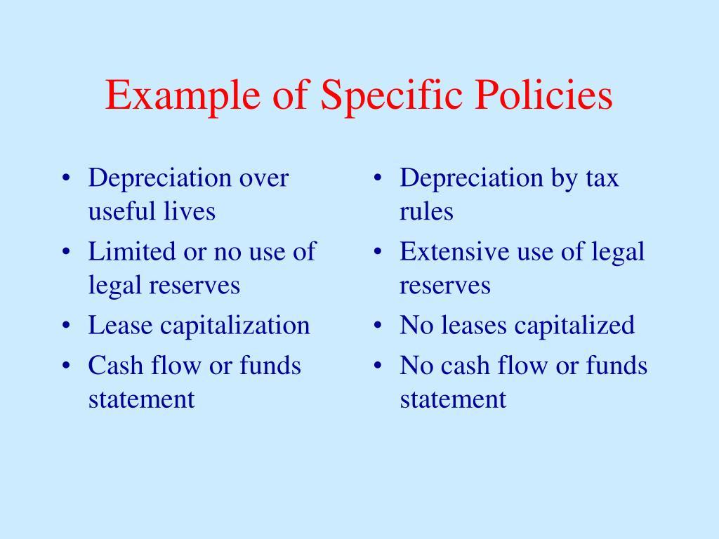 Depreciation over useful lives