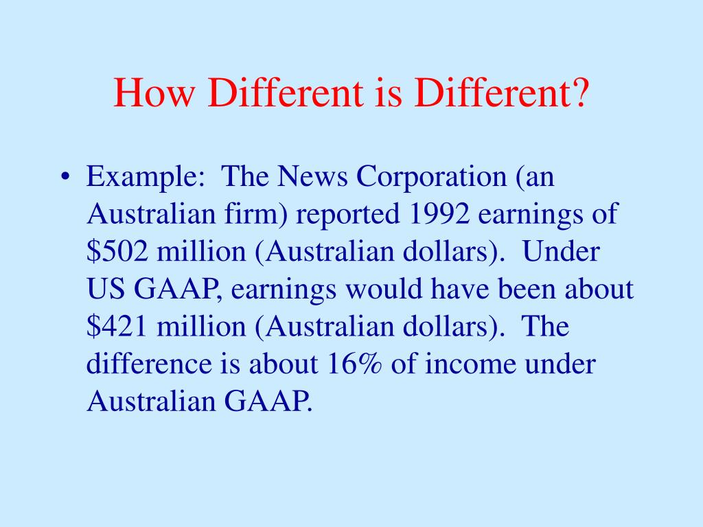 How Different is Different?