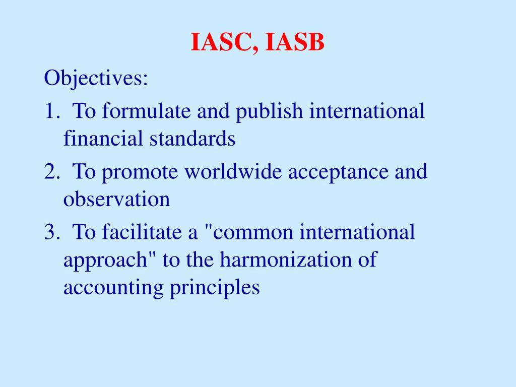 IASC, IASB
