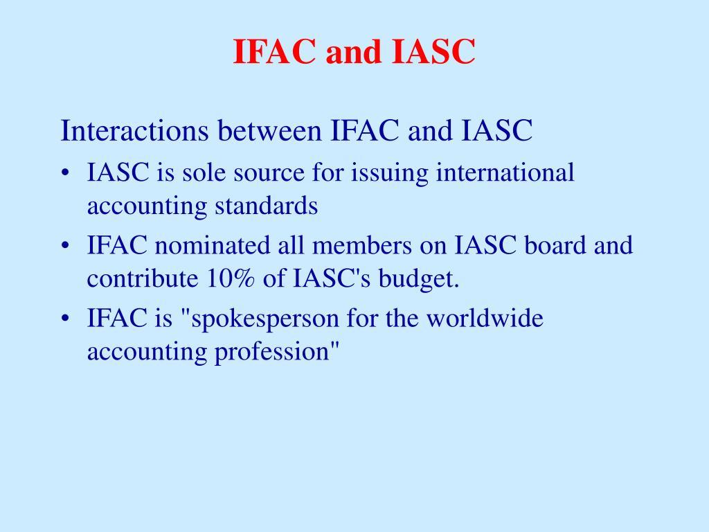 IFAC and IASC