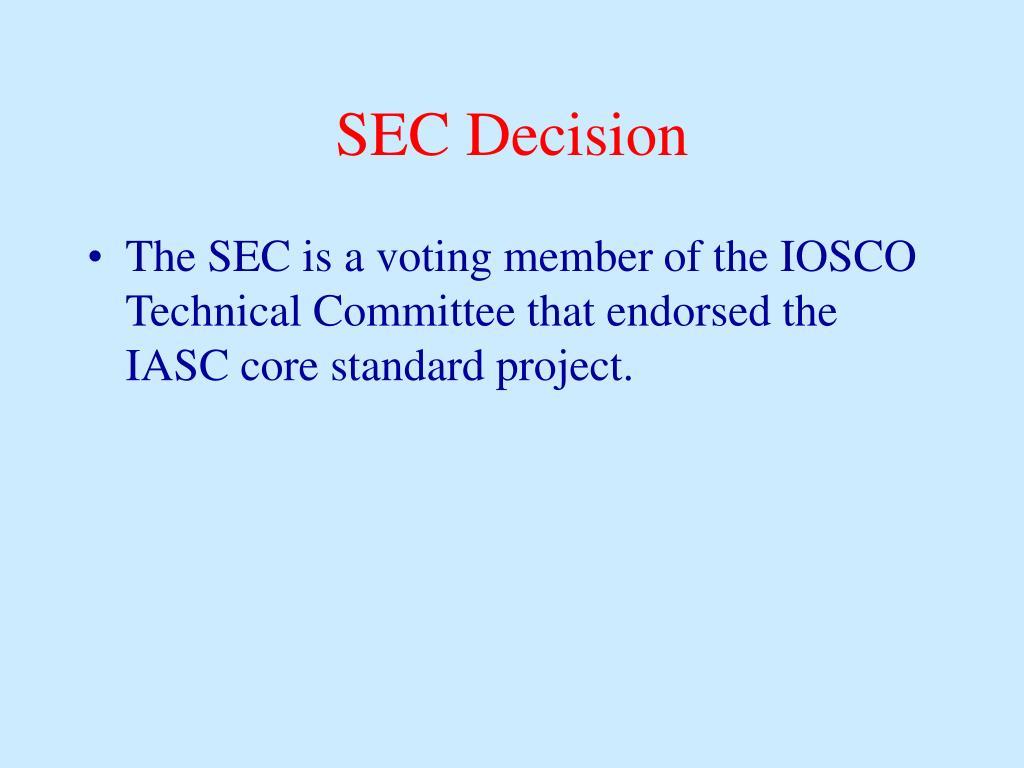 SEC Decision