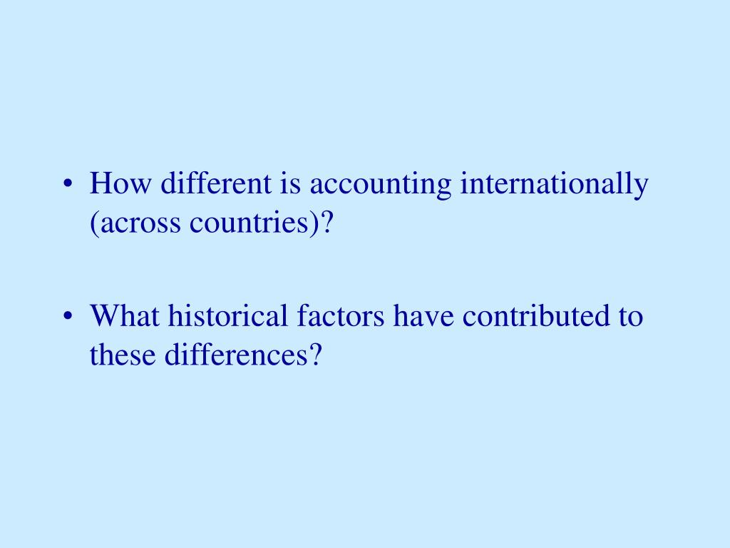 How different is accounting internationally (across countries)?