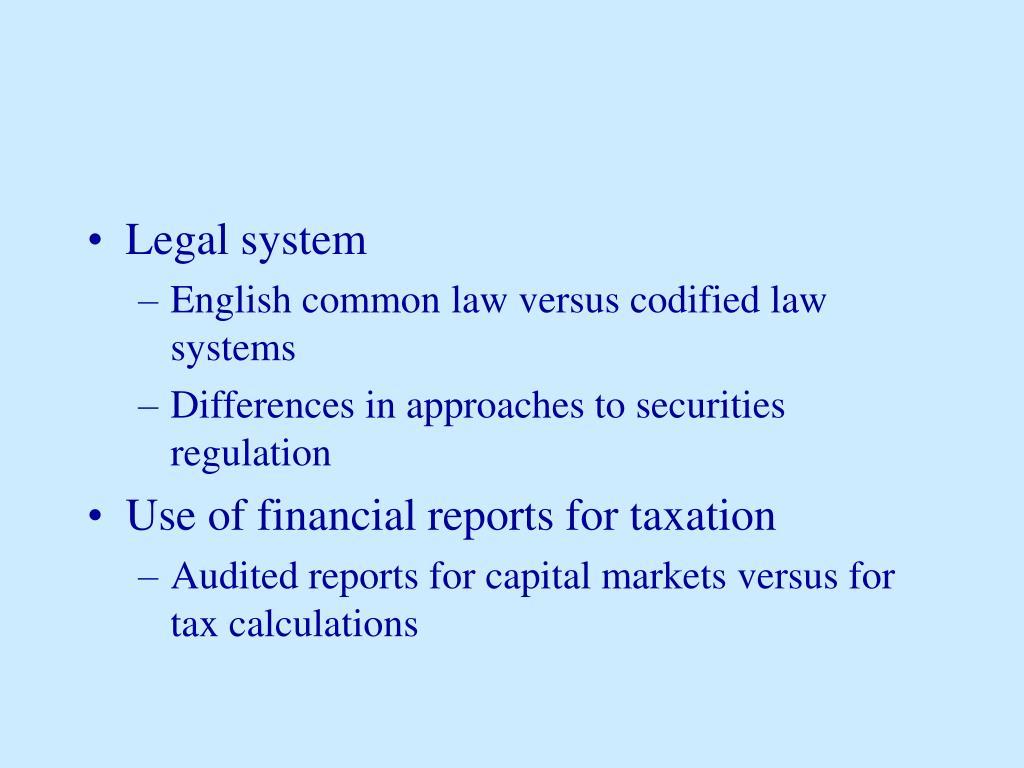 Legal system