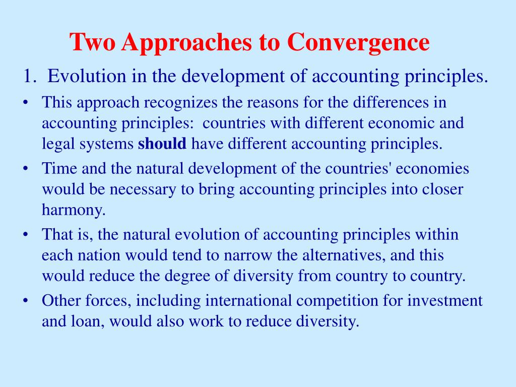 Two Approaches to Convergence