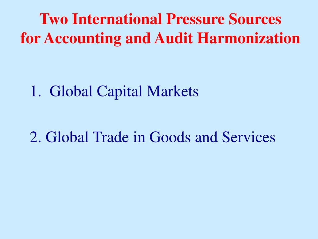 Two International Pressure Sources