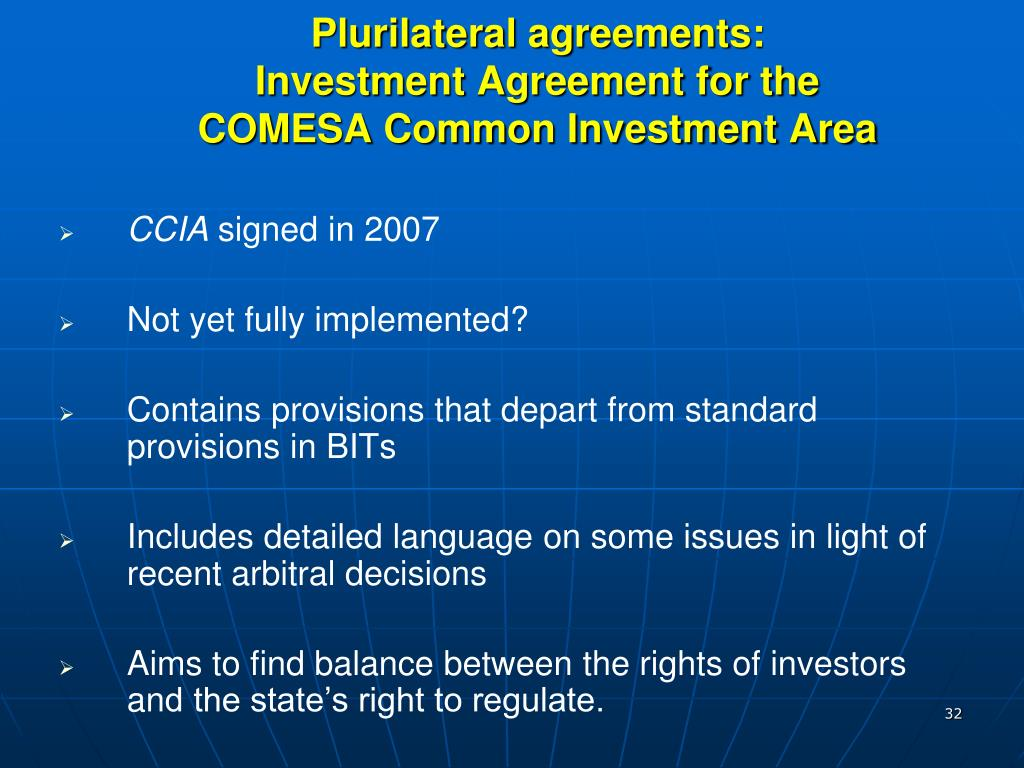 Plurilateral agreements: