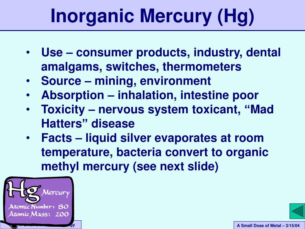 Inorganic Mercury (Hg)