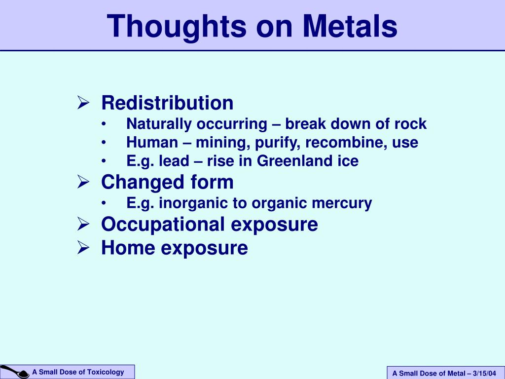 Thoughts on Metals