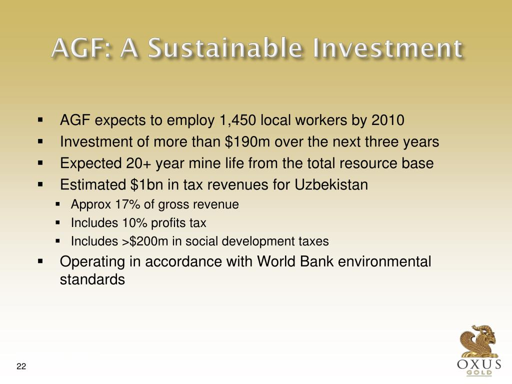 AGF: A Sustainable Investment
