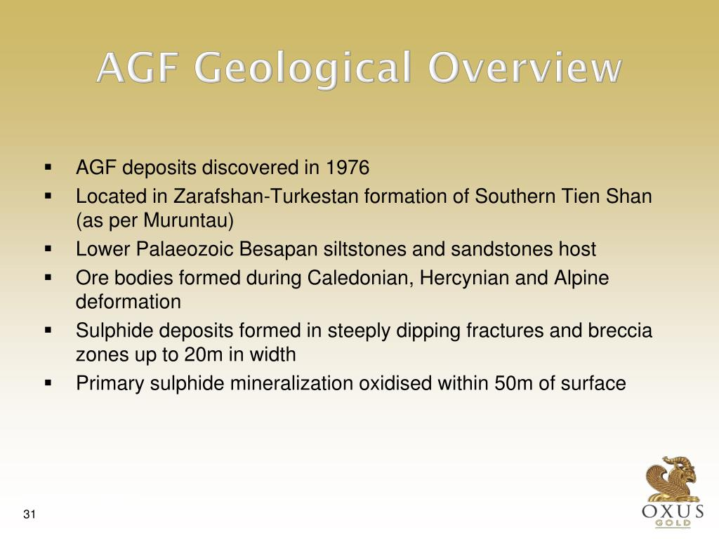 AGF Geological Overview