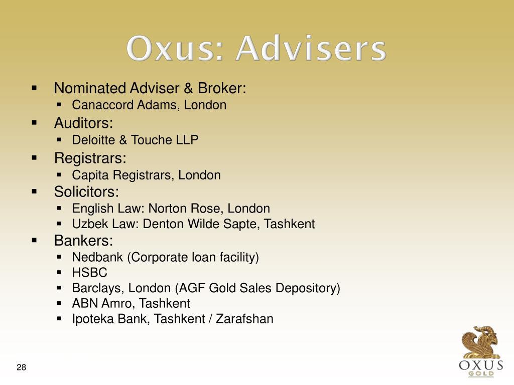 Nominated Adviser & Broker: