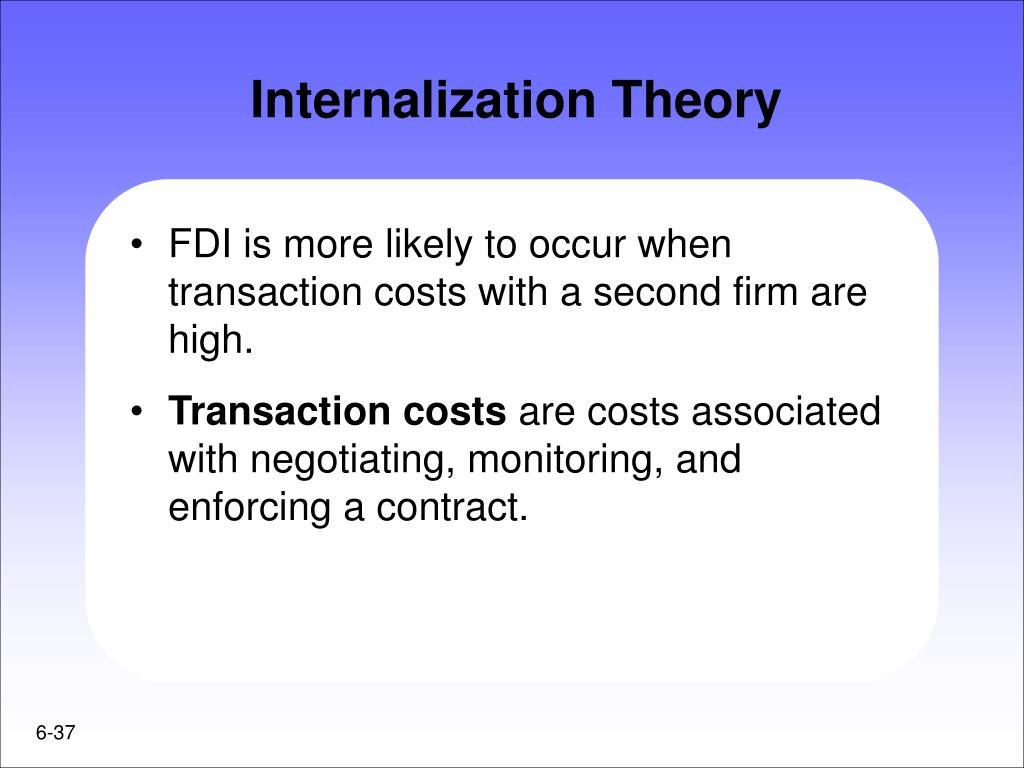 Internalization Theory