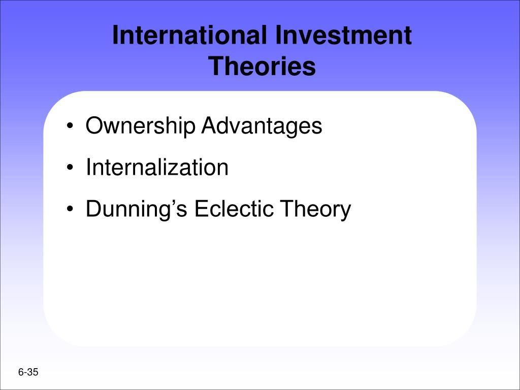 International Investment Theories