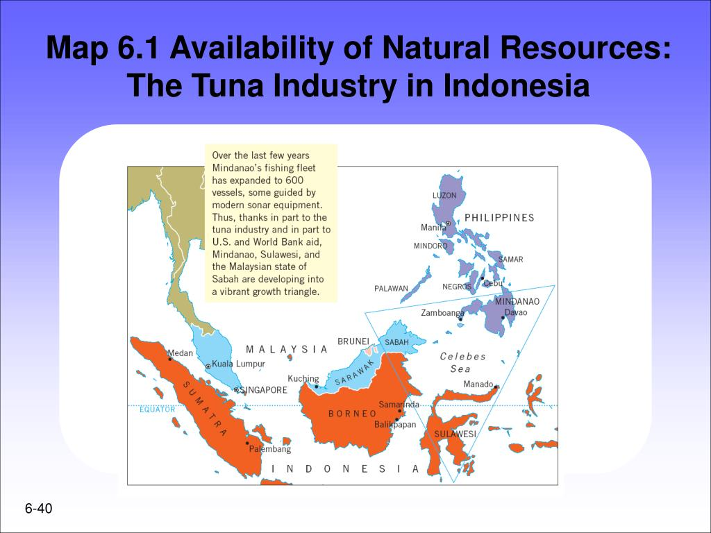Map 6.1 Availability of Natural Resources: The Tuna Industry in Indonesia