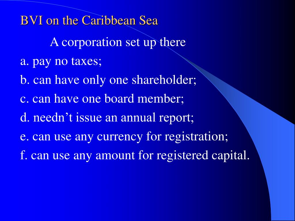 BVI on the Caribbean Sea