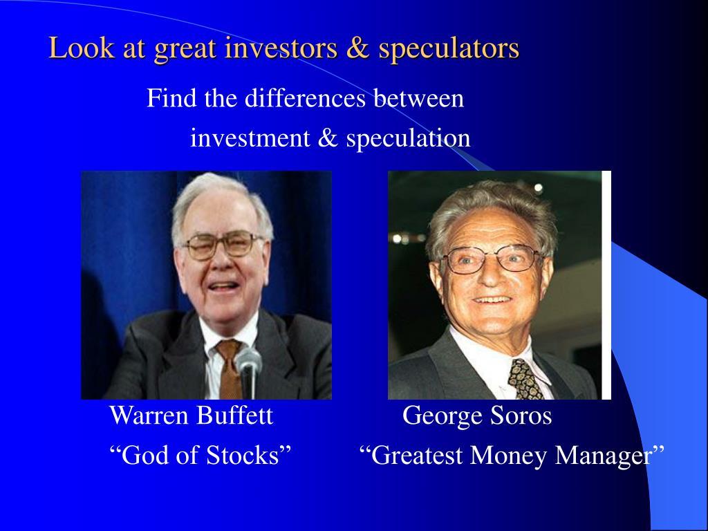 Look at great investors & speculators
