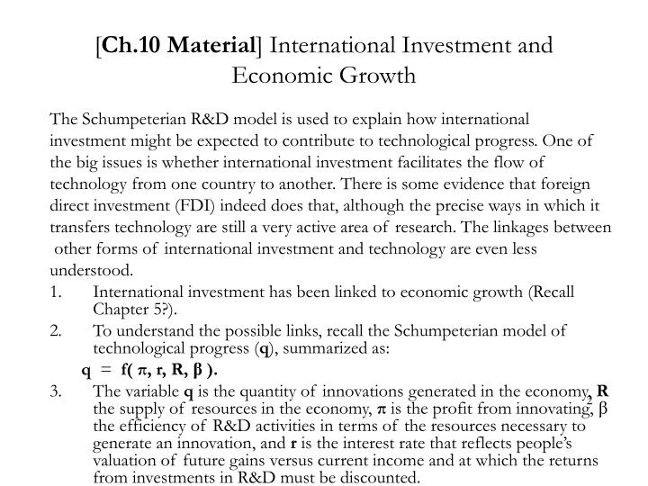 Ch 10 material international investment and economic growth
