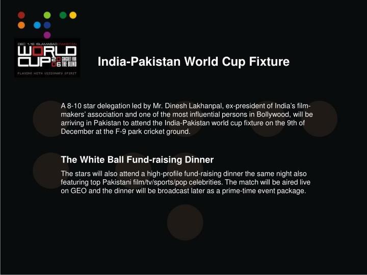 India-Pakistan World Cup Fixture