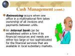 cash management cont