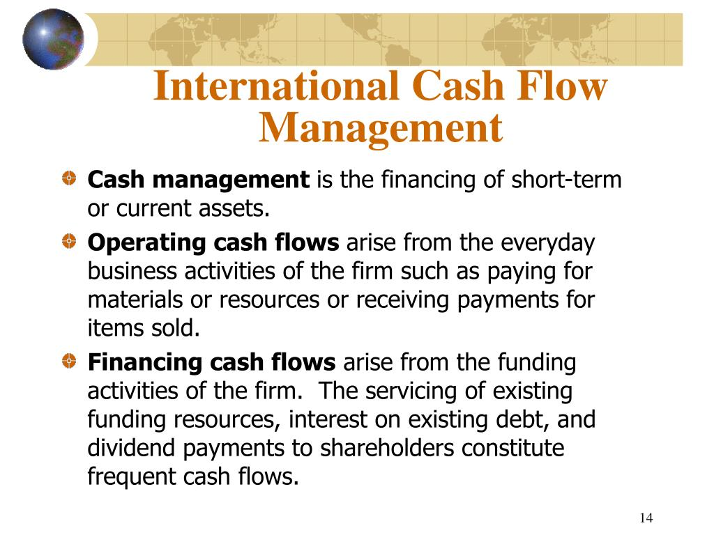 International Cash Flow Management