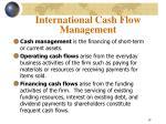 international cash flow management