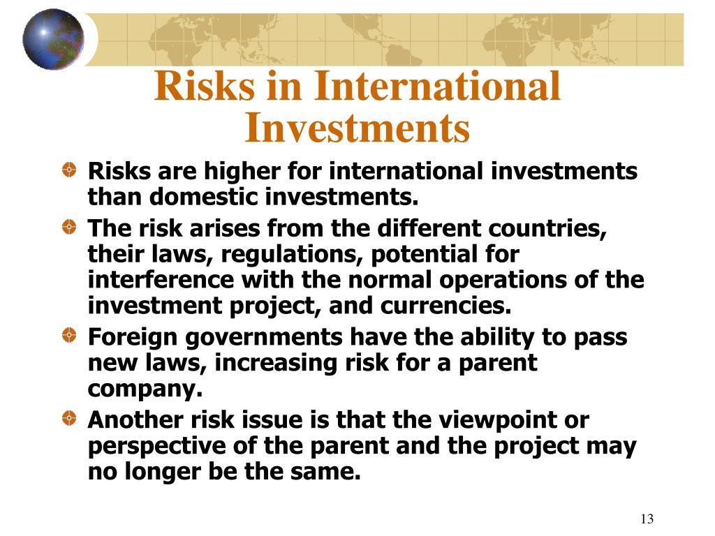 Risks in International Investments