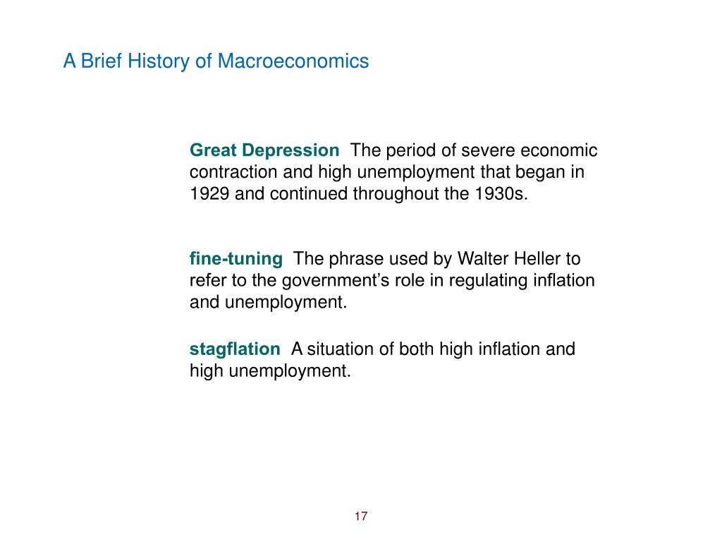 A Brief History of Macroeconomics