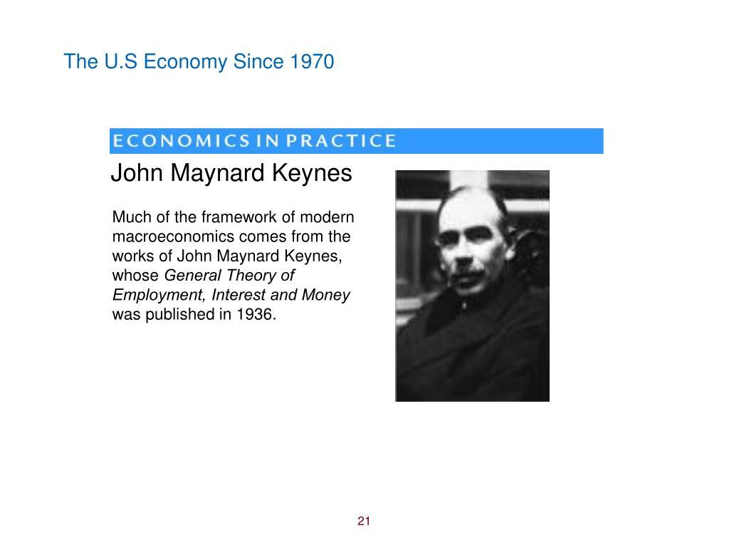 The U.S Economy Since 1970