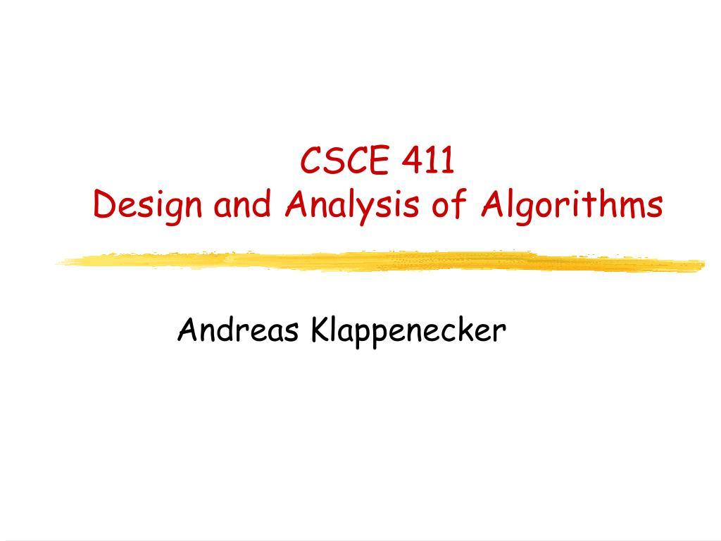 CSCE 411