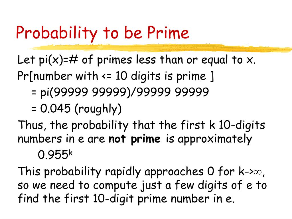Probability to be Prime