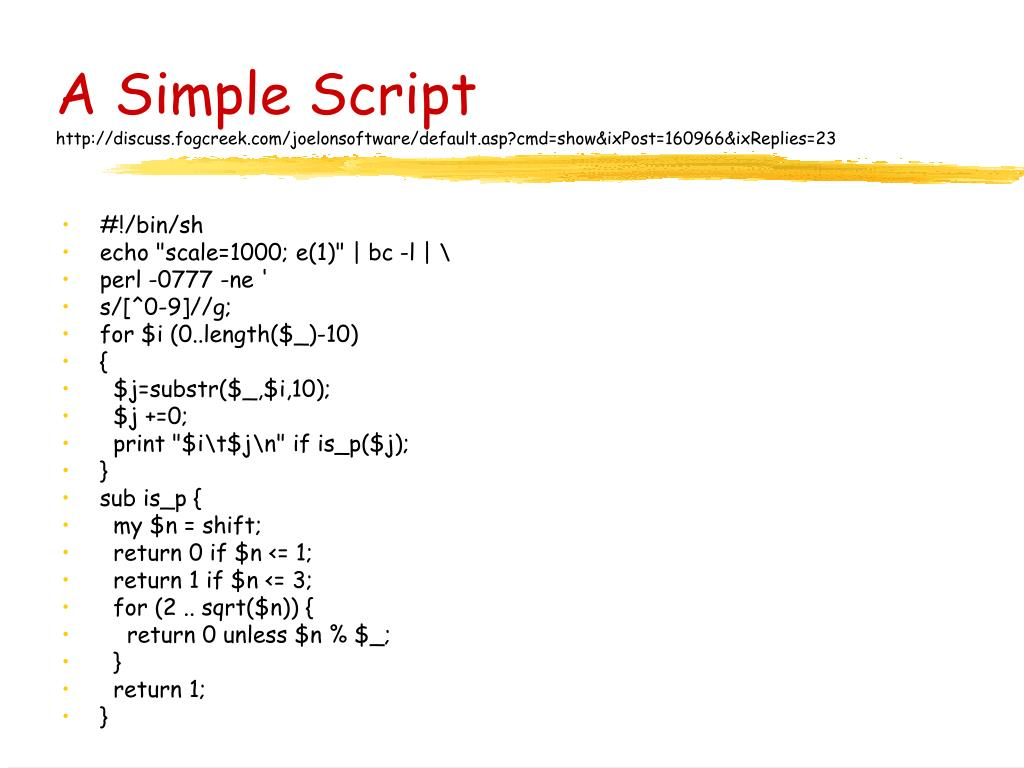A Simple Script