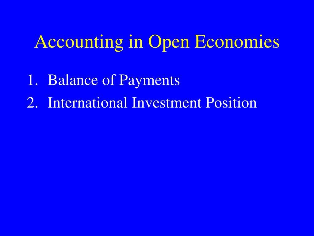 Accounting in Open Economies