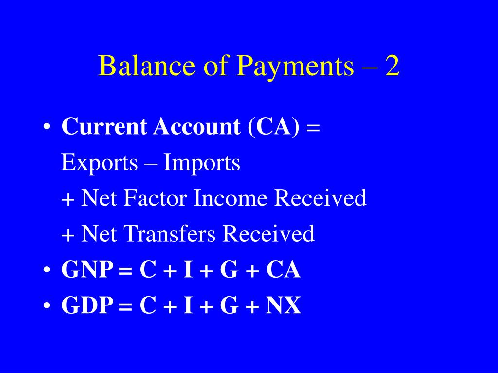 Balance of Payments – 2