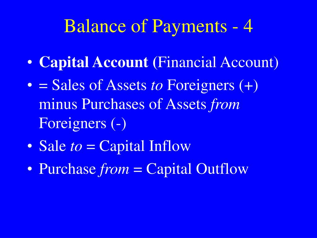 Balance of Payments - 4