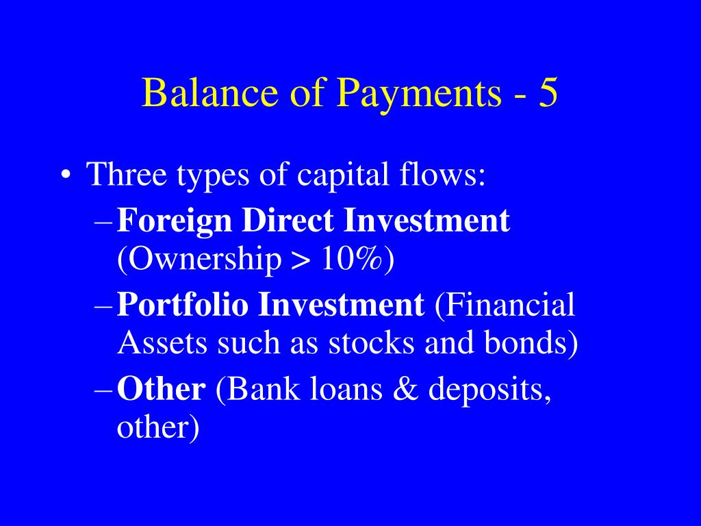 Balance of Payments - 5