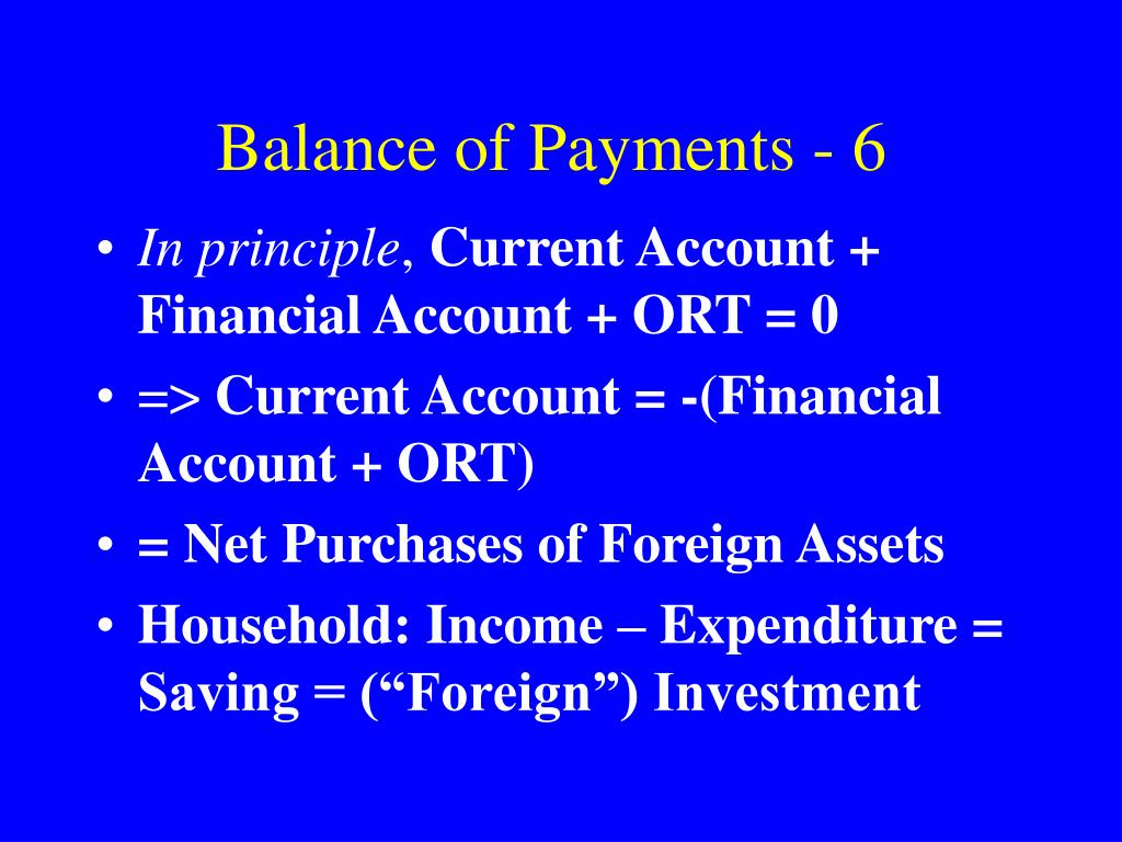 Balance of Payments - 6