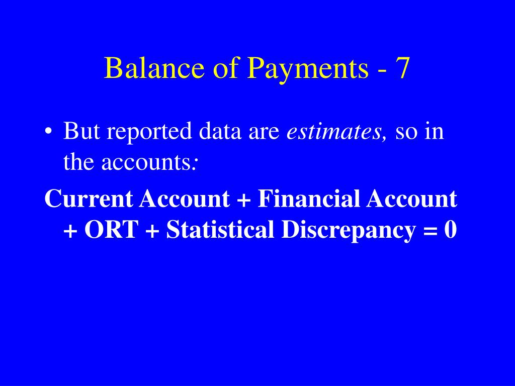 Balance of Payments - 7
