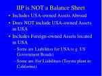 iip is not a balance sheet
