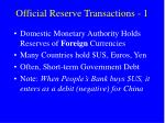 official reserve transactions 1