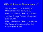 official reserve transactions 2