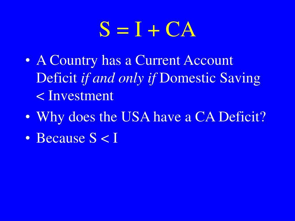 S = I + CA
