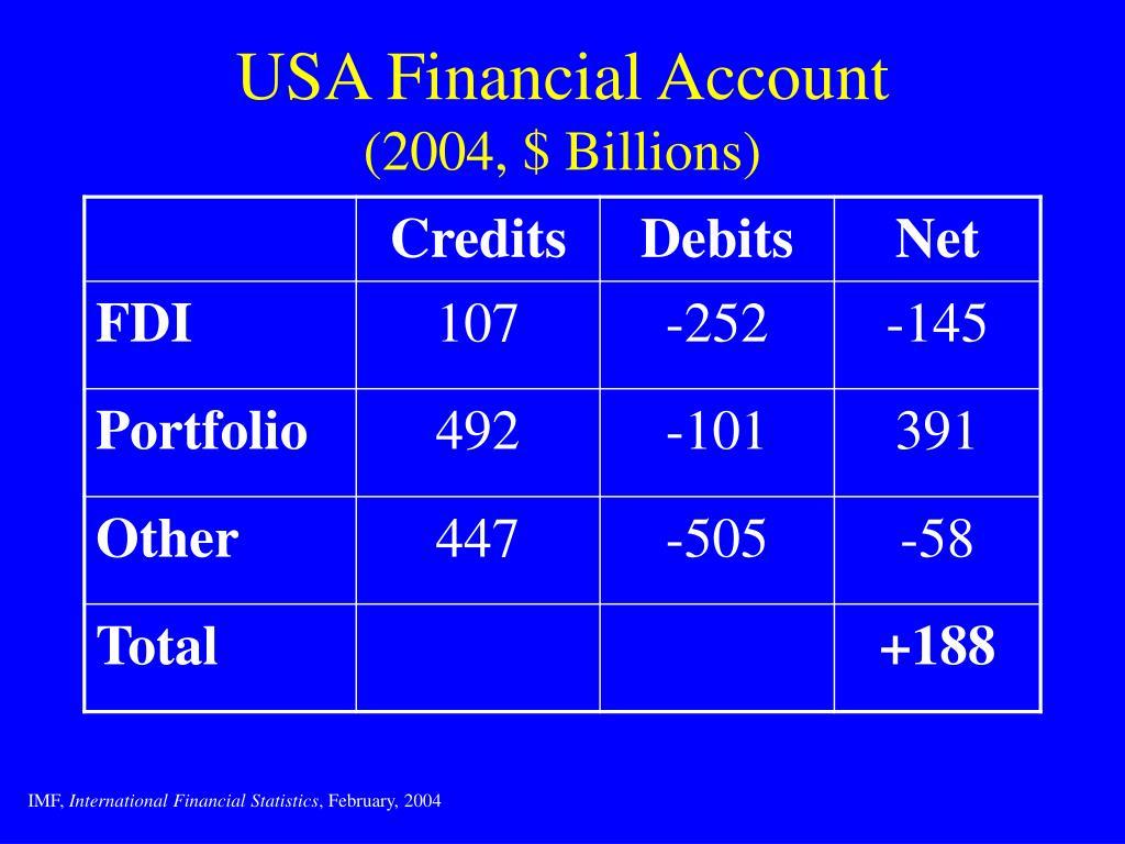 USA Financial Account