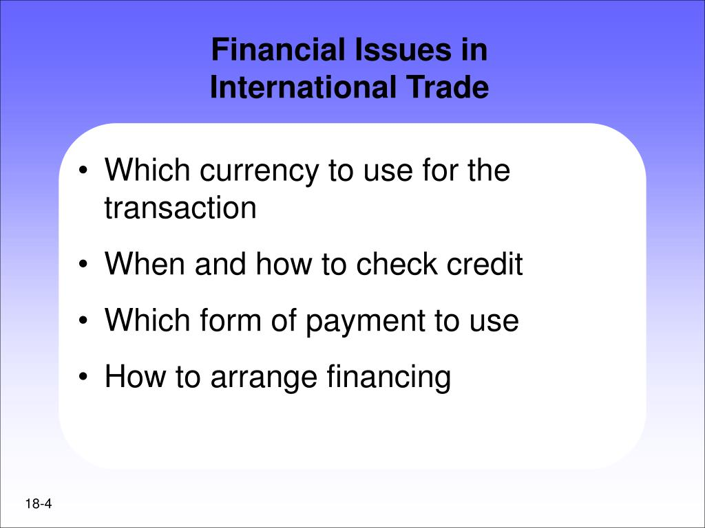 Financial Issues in